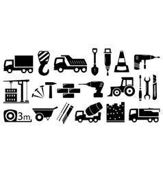 set industrial construction objects vector image vector image