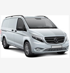 white light commercial vehicle vector image vector image