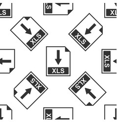 xls file document icon download xls button icon vector image