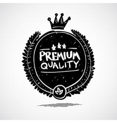 Doodle label premium quality vector image vector image