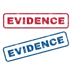 Evidence rubber stamps vector