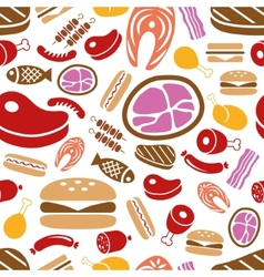 meat seamless pattern vector image vector image