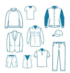 Mens Fashion and Clothing vector image