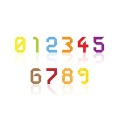 Origami numbers vector image vector image