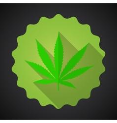 Smoking Marijuana Leaf Ganja Bad Habits Flat icon vector image vector image