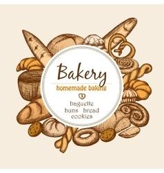 Vintage Bakery Frame vector image