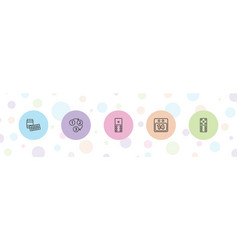5 number icons vector