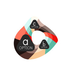 abstract colorful geometric option infographics vector image