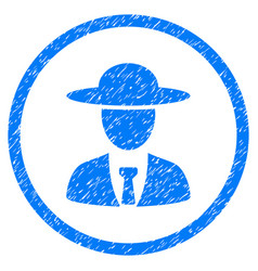 Agronomist chief rounded grainy icon vector