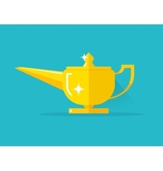 Aladdin lamp with jean vector