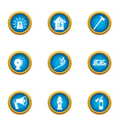 Announcement icons set flat style vector