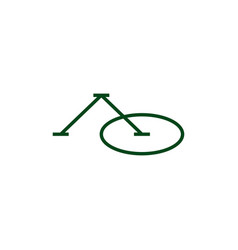 Ao letter mark initial logo icon vector
