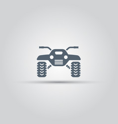 Atv isolated icon off-road motorcycles vector