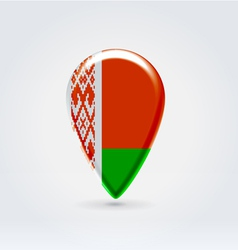 Belarussian icon point for map vector image