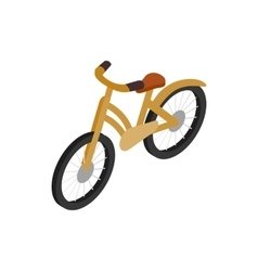 Bike icon isometric 3d style vector image