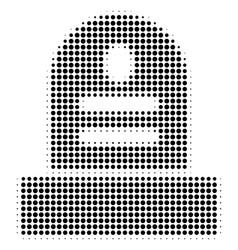 Black dot grave icon vector