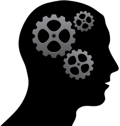 Brain of gears vector