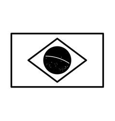 brazil flag emblem vector image