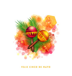 Bright vibrant fifth may mexican greeting card vector