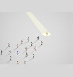 Businessman spotlight human resource and vector