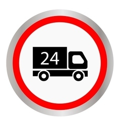 Car 24 hours delivery 24 hours icon vector image