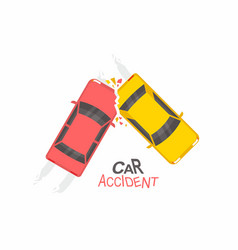 car accident top view vector image