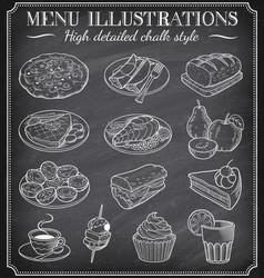 chalkboard food vector image