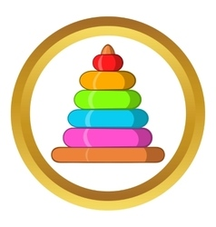 Childrens colorful pyramid icon vector image