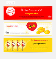 chinese new year sale banner background vector image