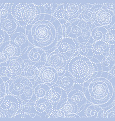 christmas frosty drawing seamless pattern vector image