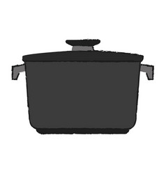 Closed pot with handles icon image vector