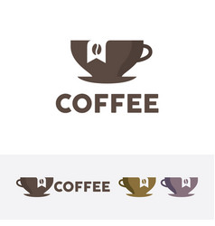 Coffee brand logo vector