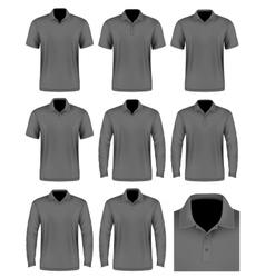 Collection men polo shirt vector