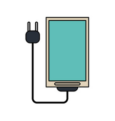 Color image cell phone with charger vector