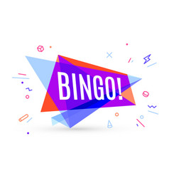 Colorful banner with text bingo vector