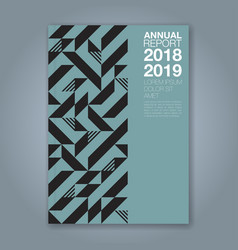 cover annual report 1214 vector image