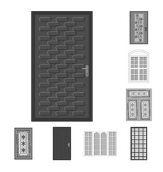 Design of door and front symbol set of vector