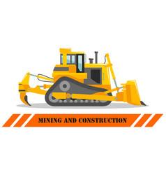 dozer bulldozer detailed heavy vector image