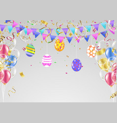 easter eggs composition holiday background esp10 vector image