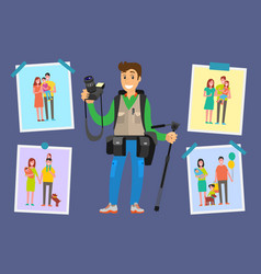 Family photograph freelancer samples pictures vector