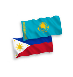 Flags kazakhstan and philippines on a white vector