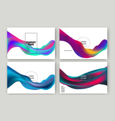 fluid shapes isolated wavy liquid on white vector image