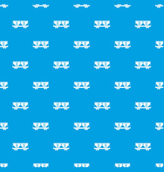 Freight railroad car pattern seamless blue vector