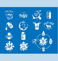 fresh dairy milk logos vector image