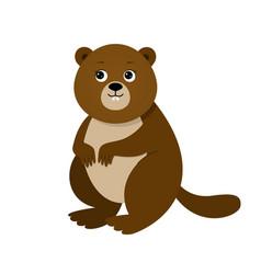 Funny beaver for children vector