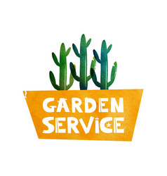 Garden service logo for advertising services for vector