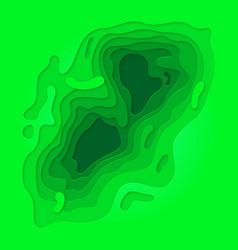 Green papercut multi layer pattern background vector