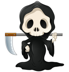 Grim reaper cartoon vector