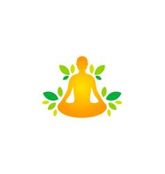grow wellness logo icon design vector image