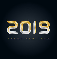 happy new year 2019 background with gold vector image
